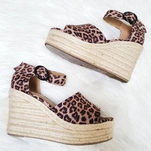 SODA cheetah leopard espadrille wedge 7